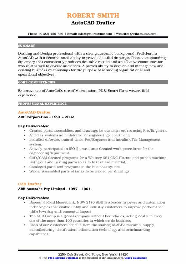 drafter resume samples qwikresume example pdf experience barista skills paragraph for Resume Cad Drafter Resume Example