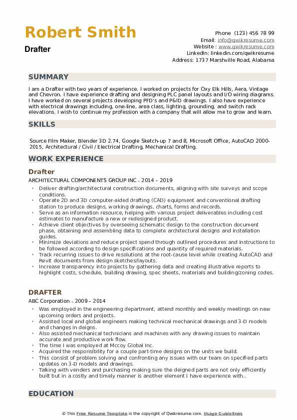 drafter resume samples qwikresume example pdf experience examples free simple layout Resume Cad Drafter Resume Example