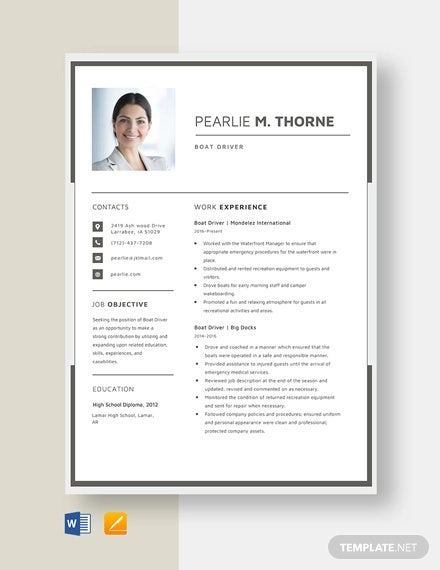 driver resume template free word pdf document downloads premium templates truck boat Resume Truck Driver Resume Template Word