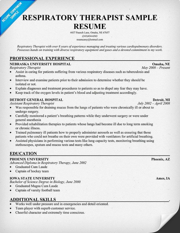 easy respiratory therapist job description resume today entry level example vice Resume Entry Level Respiratory Therapist Resume Example