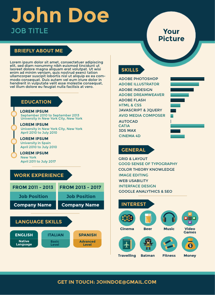easy steps to an amazing resume that help you stand out infographic template blue air Resume Infographic Resume Template