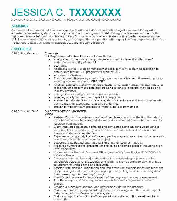 economist resume example resumes misc livecareer objective for economics graduate mba Resume Resume Objective For Economics Graduate