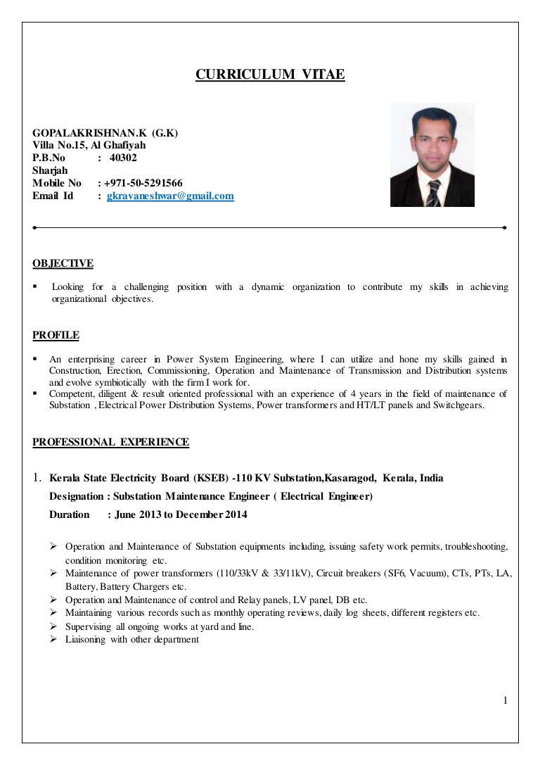 electrical engineer cv substation resume conversion gate02 thumbnail images for freshers Resume Substation Electrical Engineer Resume