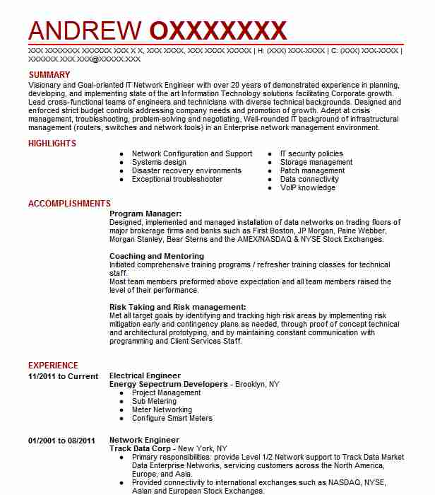 electrical engineer resume example resumes misc livecareer sample federal writing Resume Electrical Engineer Resume Sample