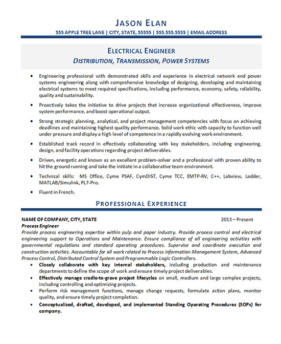 electrical engineer resume example statements for engineer1 editing help bagger ikea Resume Power Statements For Resume