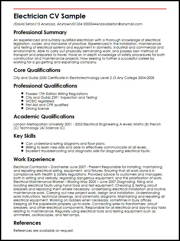 electrician resume samples ipasphoto construction cv sample forensic analyst business Resume Construction Electrician Resume