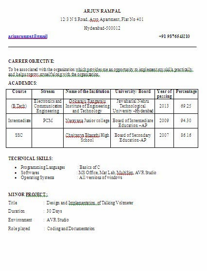 Electronics And Communication Engineering Fresher Final Year Sample Resume Formate Resume Samples For Electronics And Communication Engineers Resume Resume Procedure Prostate Oil And Gas Electrical Technician Resume Federal Agent Resume Hotel Resume