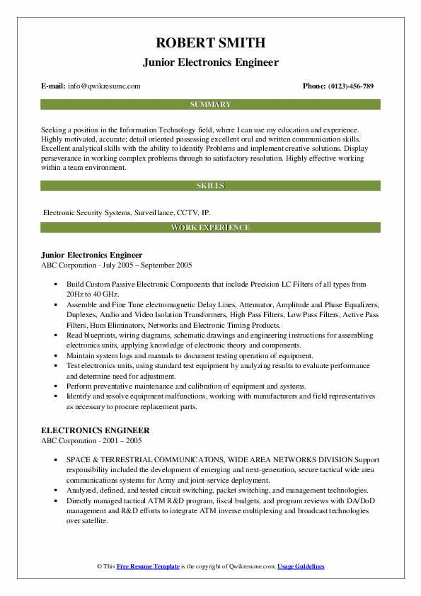 electronics engineer resume samples qwikresume for and communication engineers pdf retail Resume Resume Samples For Electronics And Communication Engineers
