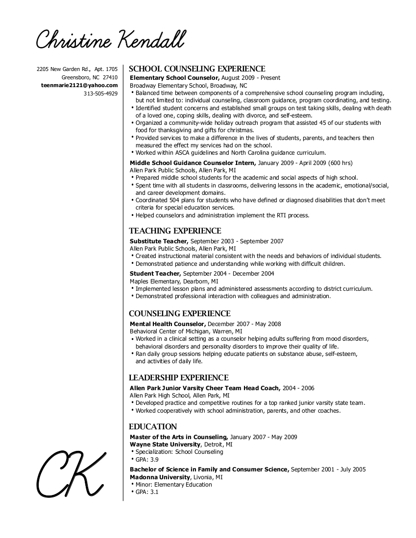 elizabeth bufton education resume family and consumer science teacher teen objective for Resume Family And Consumer Science Teacher Resume