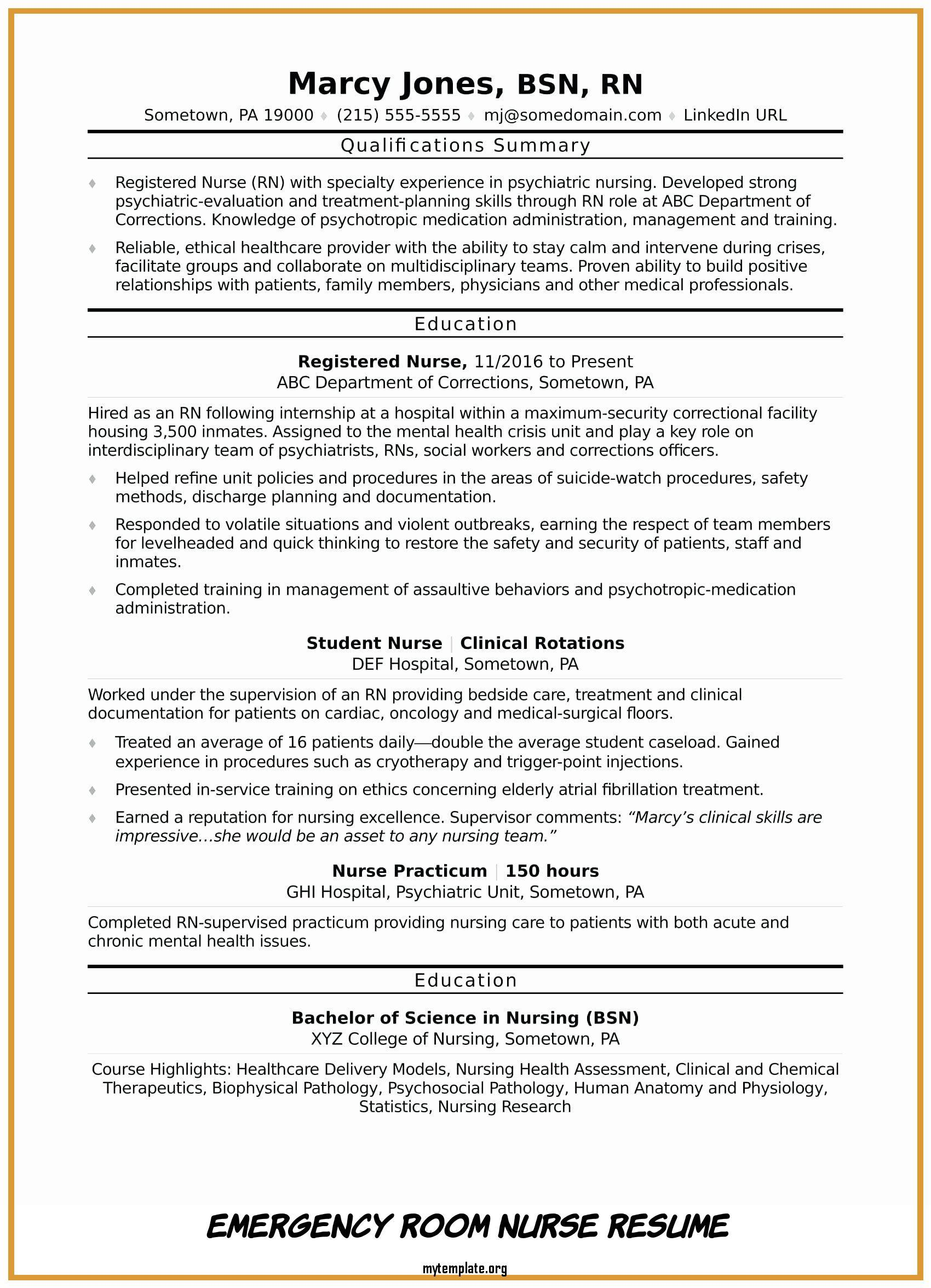 emergency room nurse resume free templates correctional job description for of awesome Resume Correctional Nurse Job Description For Resume