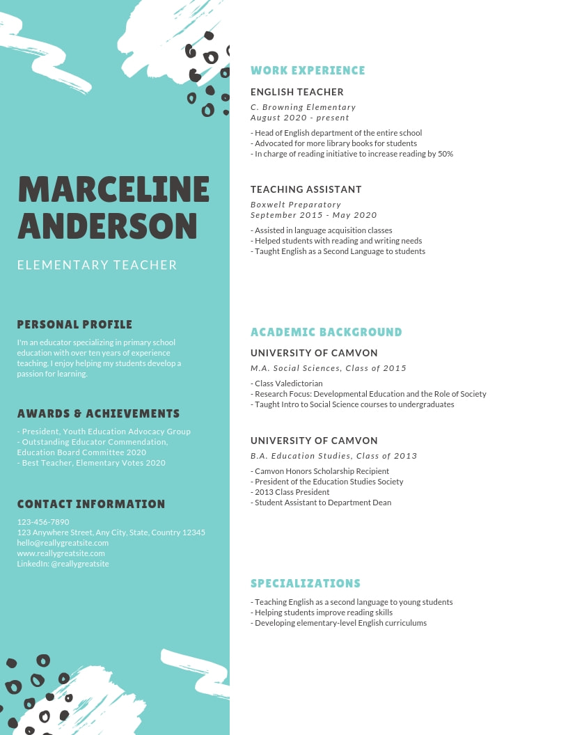 emphasize career highlights on your resume by using color strategically background Resume Resume Picture Background Color