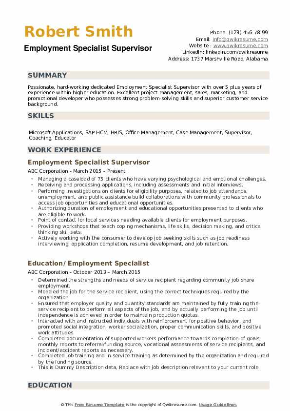 employment specialist resume samples qwikresume of microsoft employee pdf tabular iot Resume Resume Of Microsoft Employee