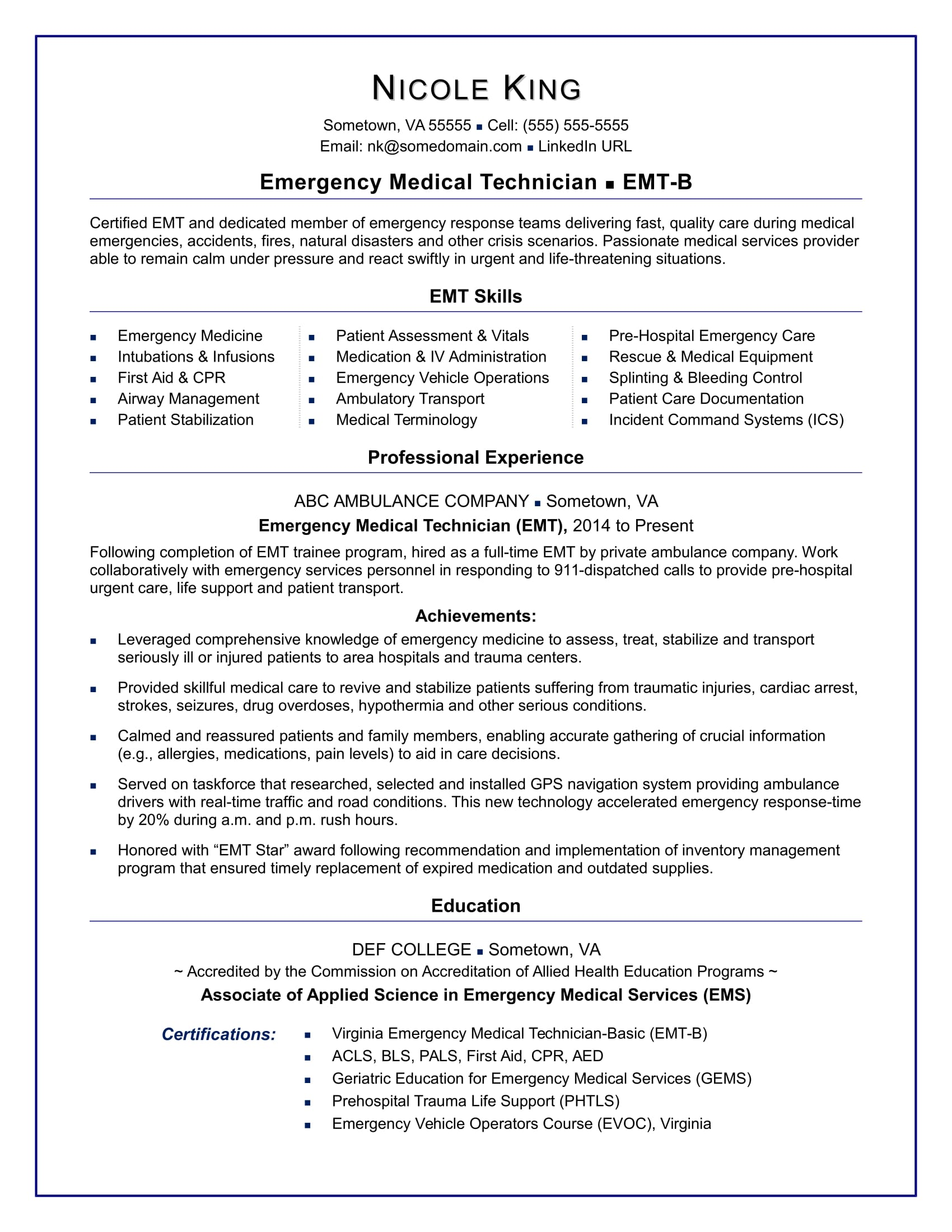 emt resume sample monster another word for knowledge on information security auditor Resume Another Word For Knowledge On Resume