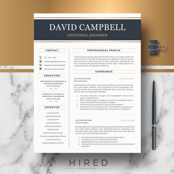 engineer resume template engineering cover letter etsy professional word il 570xn emwl Resume Professional Engineer Resume Template Word