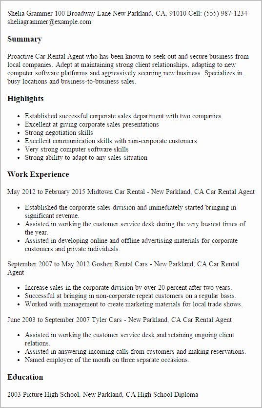 enterprise rent car resume new rental agent templates try them now sample personal Resume Enterprise Management Trainee Resume Example