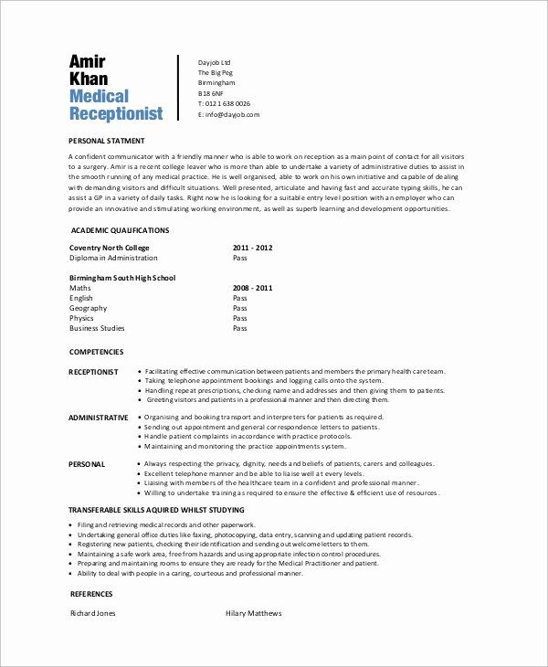 entry level help desk resume beautiful sample medical receptionist examples in word Resume Entry Level Receptionist Resume