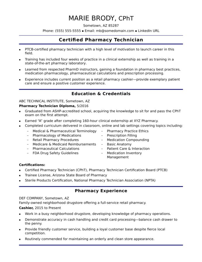 entry level pharmacy technician resume sample monster free for python pandas automatic Resume Free Sample Resume For Pharmacy Technician