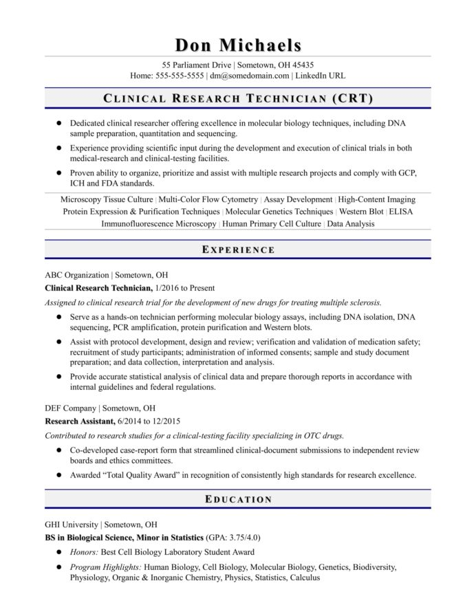 entry level research technician resume sample monster assistant accounting internship Resume Entry Level Research Assistant Resume