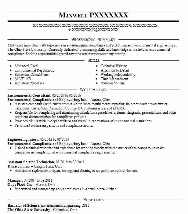 environmental consultant resume example livecareer harvard template esl teacher assistant Resume Environmental Consultant Resume