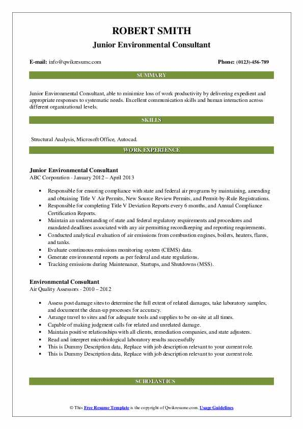 environmental consultant resume samples qwikresume pdf cocktail server logistics manager Resume Environmental Consultant Resume