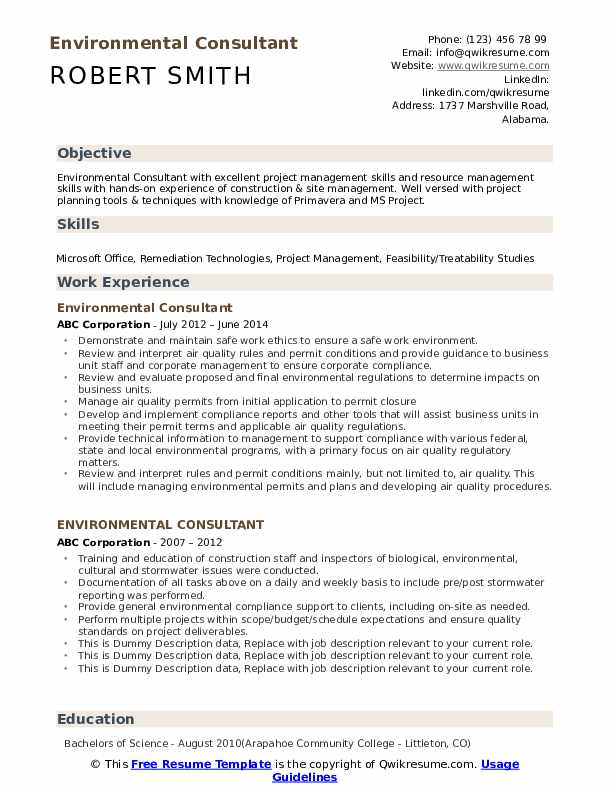 environmental consultant resume samples qwikresume pdf marketing director examples for Resume Environmental Consultant Resume
