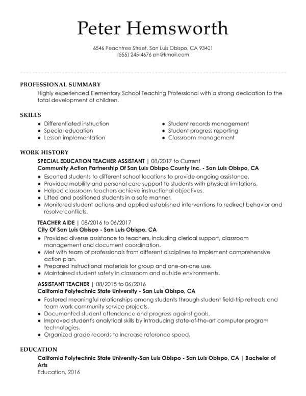 essential student resume examples my perfect undergraduate assistant teacher template for Resume Undergraduate Resume Examples