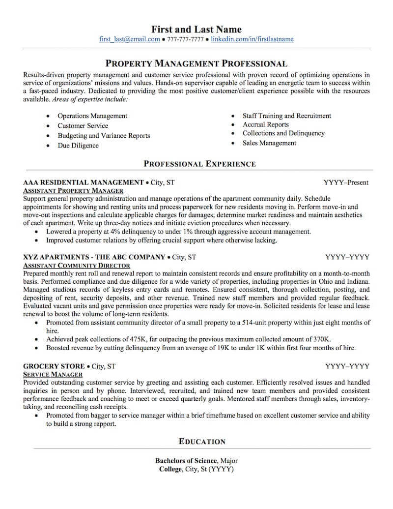 estate property management resume sample professional examples topresume entry level free Resume Entry Level Property Management Resume