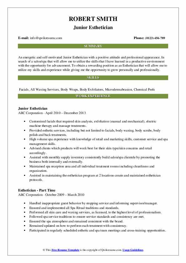 esthetician resume samples qwikresume entry level sample pdf microsoft office luxury Resume Entry Level Esthetician Resume Sample