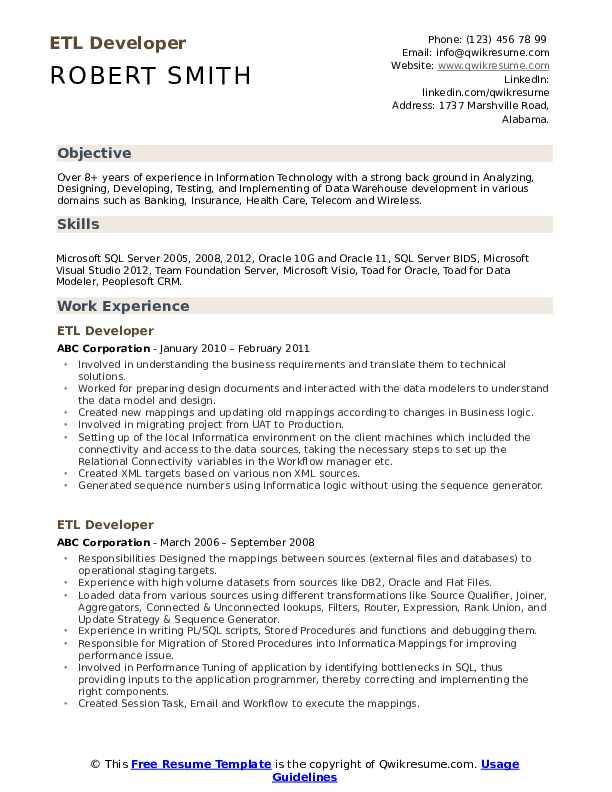 etl developer resume samples qwikresume talend pdf itil foundation format for food and Resume Talend Developer Resume