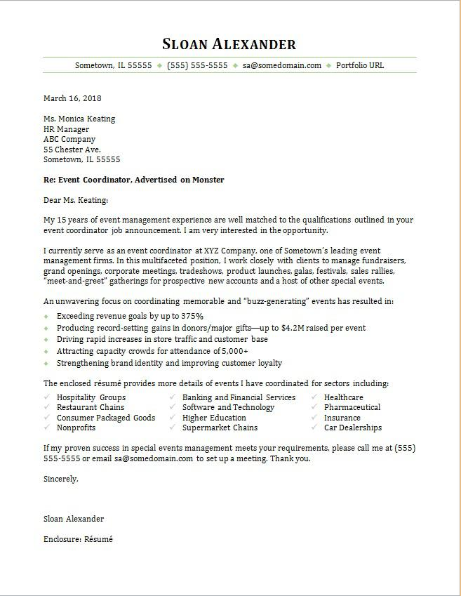 event coordinator cover letter sample monster staffing resume heating and cooling Resume Staffing Coordinator Resume Cover Letter