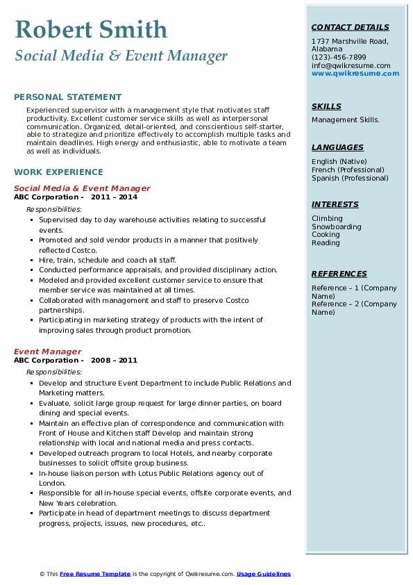 event manager resume samples qwikresume management for freshers pdf can write financial Resume Event Management Resume For Freshers