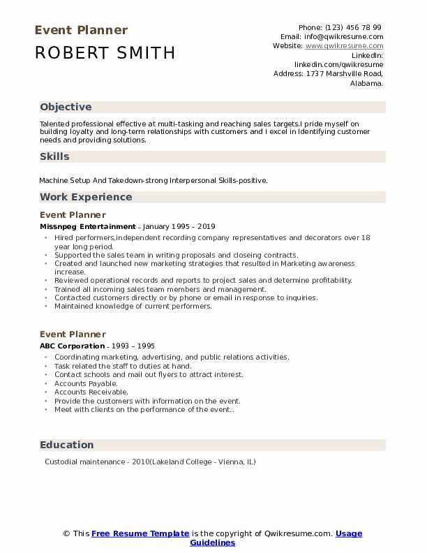 event planner resume samples qwikresume examples pdf perfect internship pronounce Resume Event Planner Resume Examples