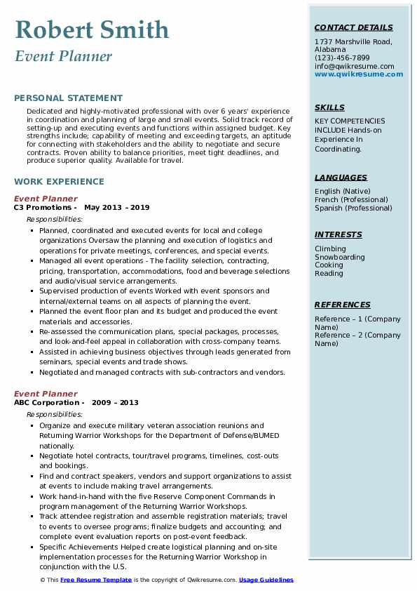 event planner resume samples qwikresume examples pdf relevant experience design manager Resume Event Planner Resume Examples
