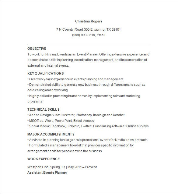event planner resume templates pdf free premium management for freshers party builder Resume Event Management Resume For Freshers