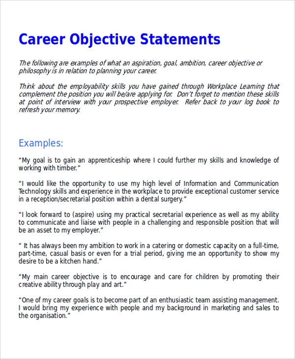 examples of cv objective statements resume for any career general proven tips position Resume Resume Objective Examples For Any Position