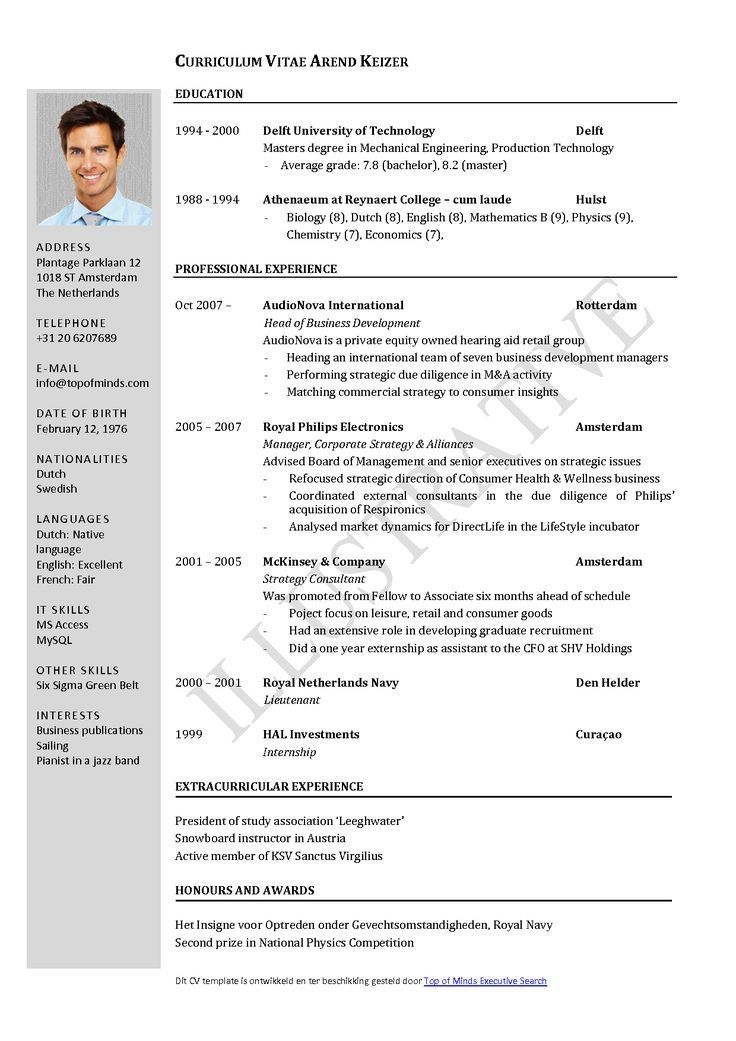 examples of resumes resume sample templates format the best for experienced college Resume The Best Resume Format For Experienced