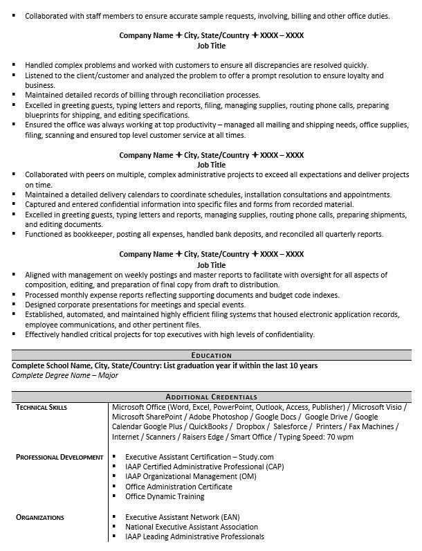 executive assistant resume example tips to writing one title for administrative mechanic Resume Resume Title For Administrative Assistant