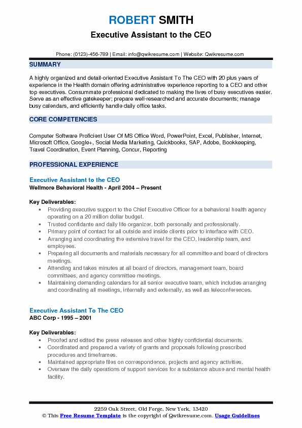 executive assistant to the ceo resume samples qwikresume of google pdf organizational Resume Resume Of Ceo Of Google