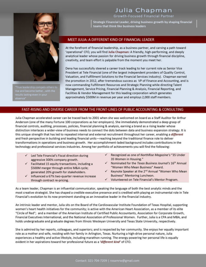 executive bio sample traditional wrtiting style resume and examples website bio1 791x1024 Resume Resume And Bio Examples