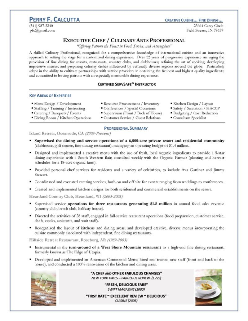 executive chef resume personal objective star statements student ministry social services Resume Personal Chef Resume Objective