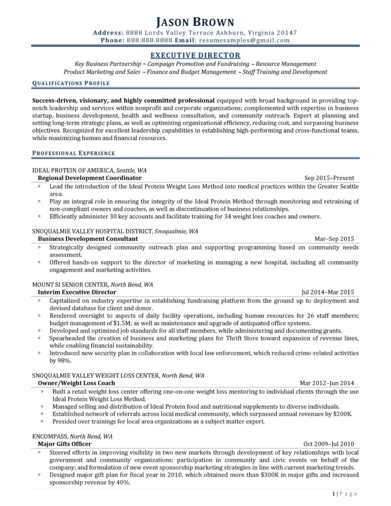 executive director resume examples professional writers nonprofit non profit 791x1024 Resume Nonprofit Executive Director Resume