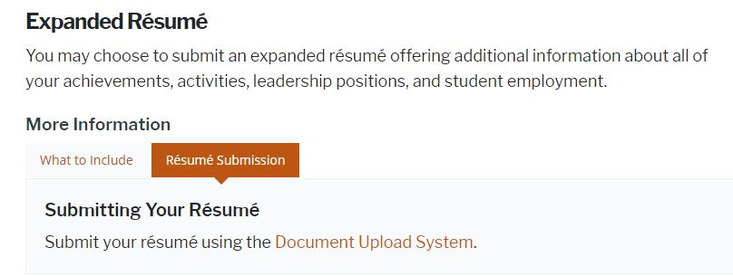 expanded student resume for university of brand college consulting application ut Resume Expanded Resume For College Application
