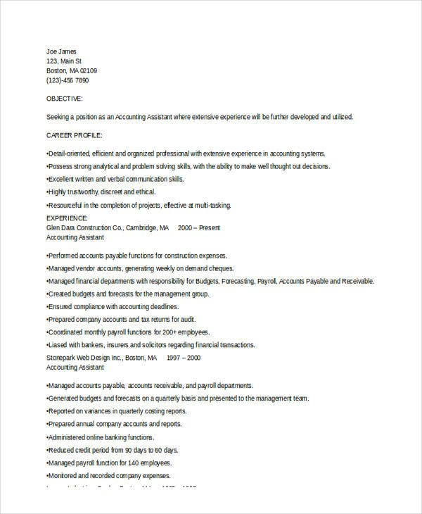 experienced resume format templates pdf free premium latest for accountant cosmetology Resume Latest Resume Format For Experienced
