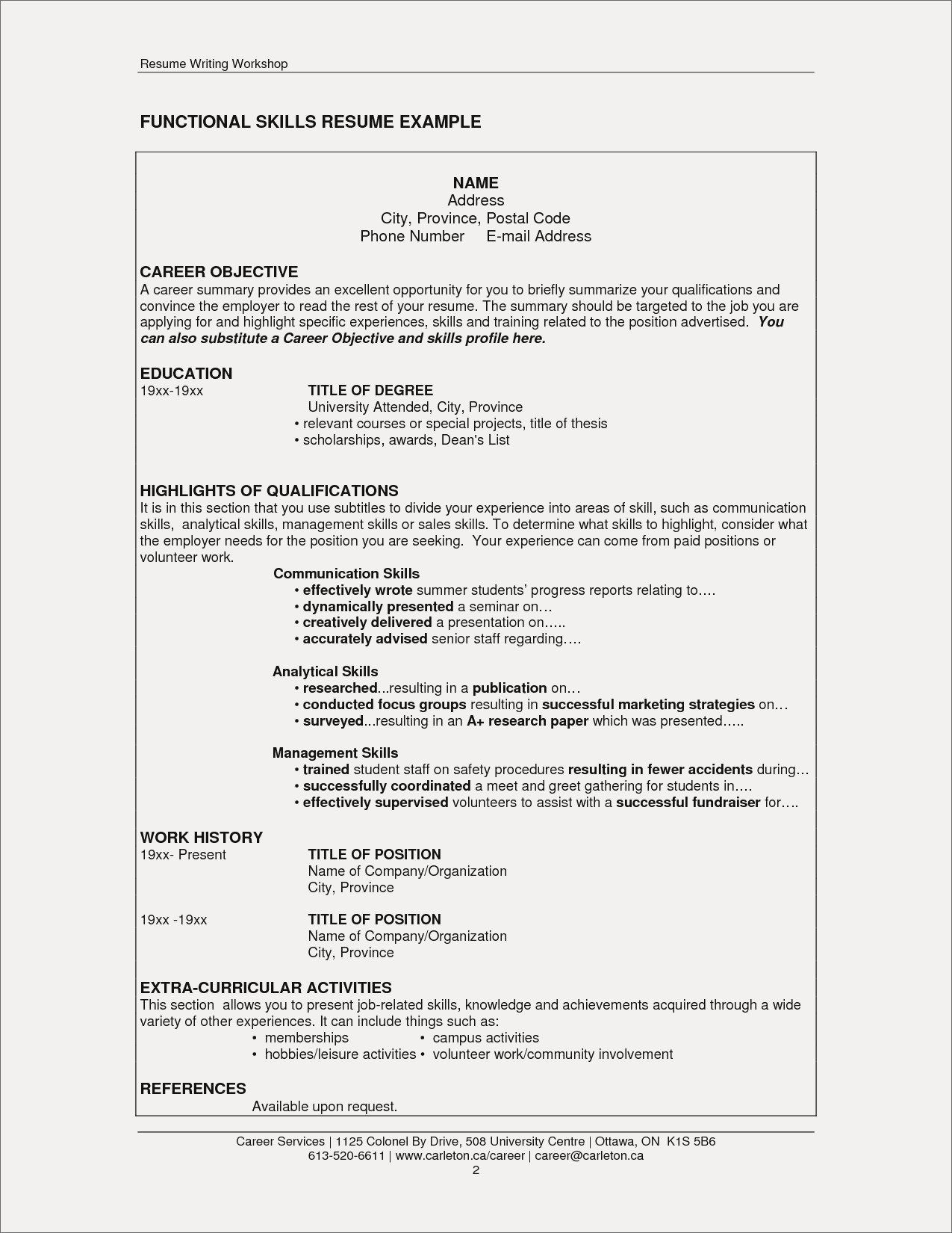 extra curricular activities for resume elegant co skills good examples section and Resume Skills And Activities Resume Example