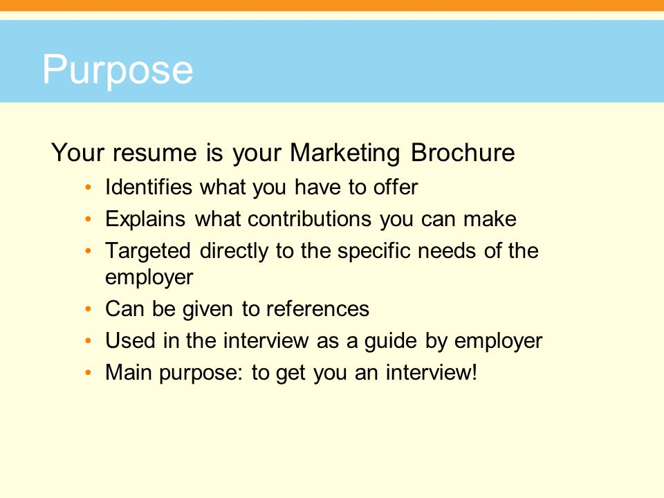facilitator name phone number address main purpose of resume your is marketing brochure Resume Main Purpose Of A Resume
