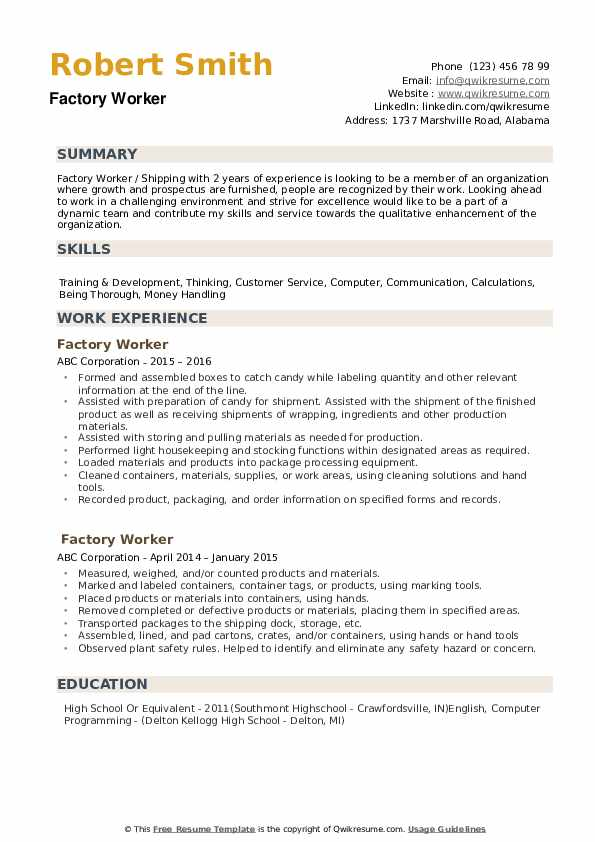 factory worker resume samples qwikresume examples pdf ticket agent sample recent graduate Resume Factory Worker Resume Examples