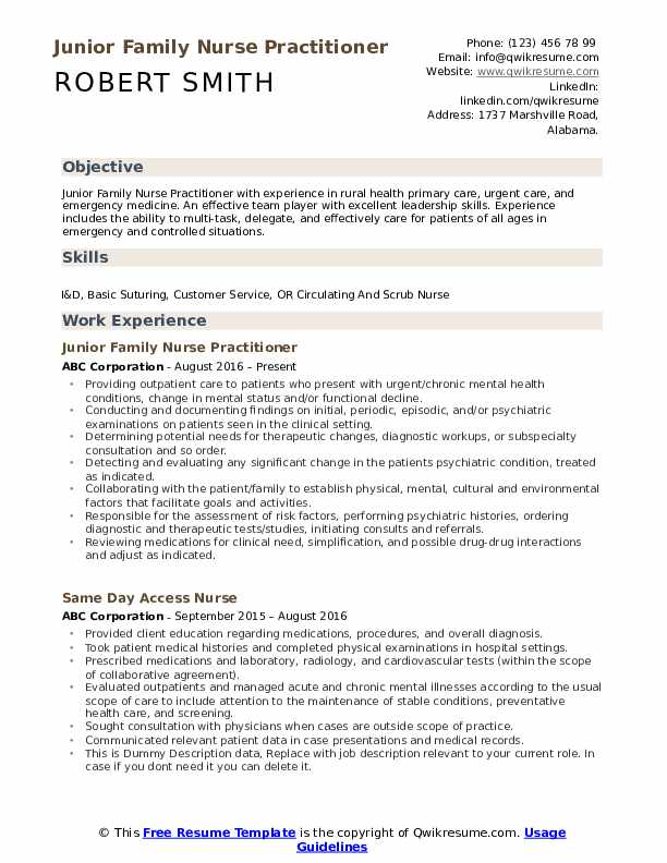 family nurse practitioner resume samples qwikresume examples pdf job email subject best Resume Nurse Practitioner Resume Examples