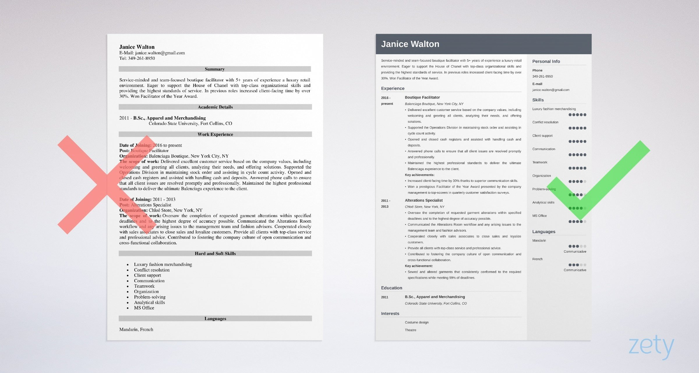 fashion resume examples templates guide with tips example permanent resident courses for Resume Fashion Resume Examples