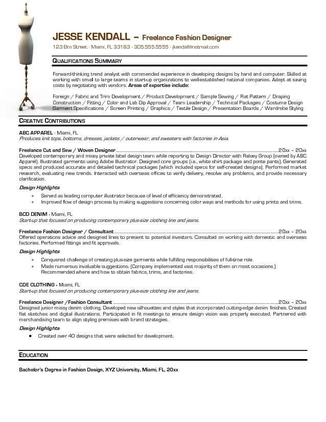 fashion resume templates designer themysticwindow design objective for creative example Resume Objective For Fashion Designer Resume