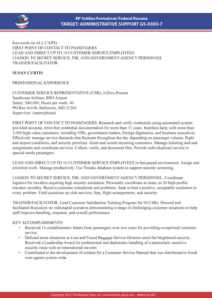 federal resume samples place exceptional sample making services customer support picking Resume Exceptional Resume Samples